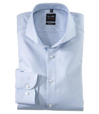 OLYMP OLYMP Body Fit Overhemd L.Blauw Ruitje  0567.64.11