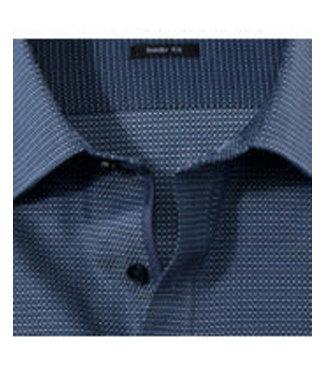 OLYMP OLYMP Body Fit Overhemd Blauw Print 2054.64.18