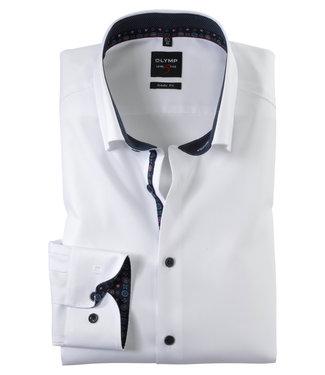 OLYMP OLYMP Body Fit Overhemd Wit/bl 2142.64.00