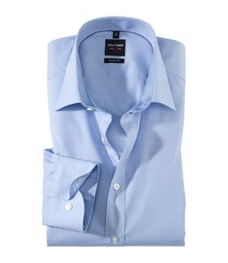 OLYMP OLYMP LEVEL 5 Body Fit  L.Blauw fichy hemd 2005.64.11