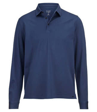 OLYMP OLYMP Body Fit Polo L.M Blauw 5452.64.96
