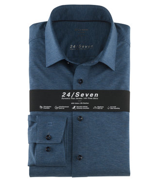 OLYMP OLYMP Modern Fit  Rook Blauw Jersey 1202.64.13