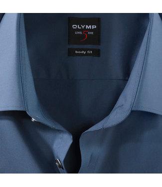 OLYMP OLYMP Body  Fit Rook Blauw   6090.64.13