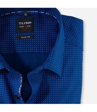 OLYMP OLYMP Body  Fit Blauw Print  2086.54.18