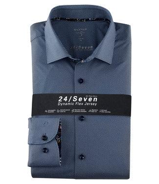 OLYMP OLYMP Body  Fit Jersey Blauw 2014.74.18