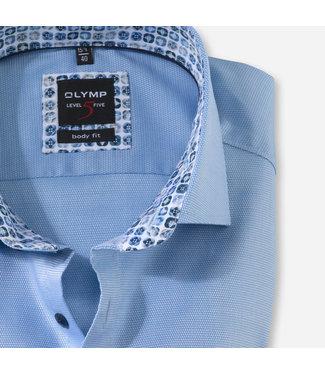 OLYMP OLYMP Body  Fit Blauw  K.Mouw 2074.72.11
