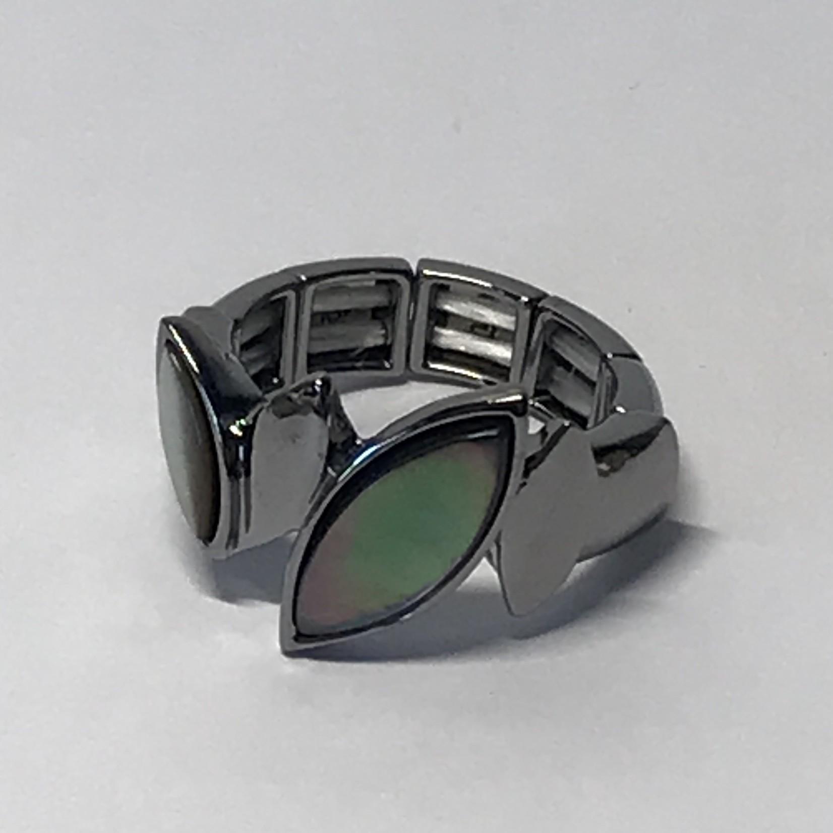 Axxes-Soir Ring elastisch in gun metal