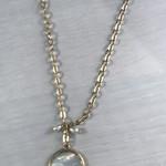 Axxes-Soir Korte ketting - goudkleurig met witte steen