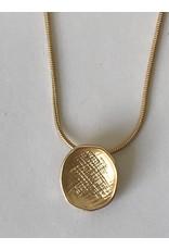Axxes-Soir Lange goudkleurige ketting - blinkend en mat