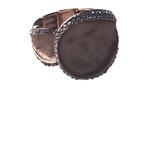 Axxes-Soir Ring elastisch rosékleurig met steentjes