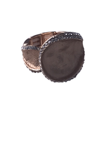 Axxes-Soir Ring - 1 maat - verstelbaar- rosékleurig mat met steentjes