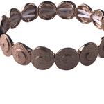 Biba armband rosé - cirkeltjes -  met elastiek