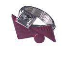 Axxes-Soir Ring - 1 maat - verstelbaar- zilverkleurig met roze driehoekjes