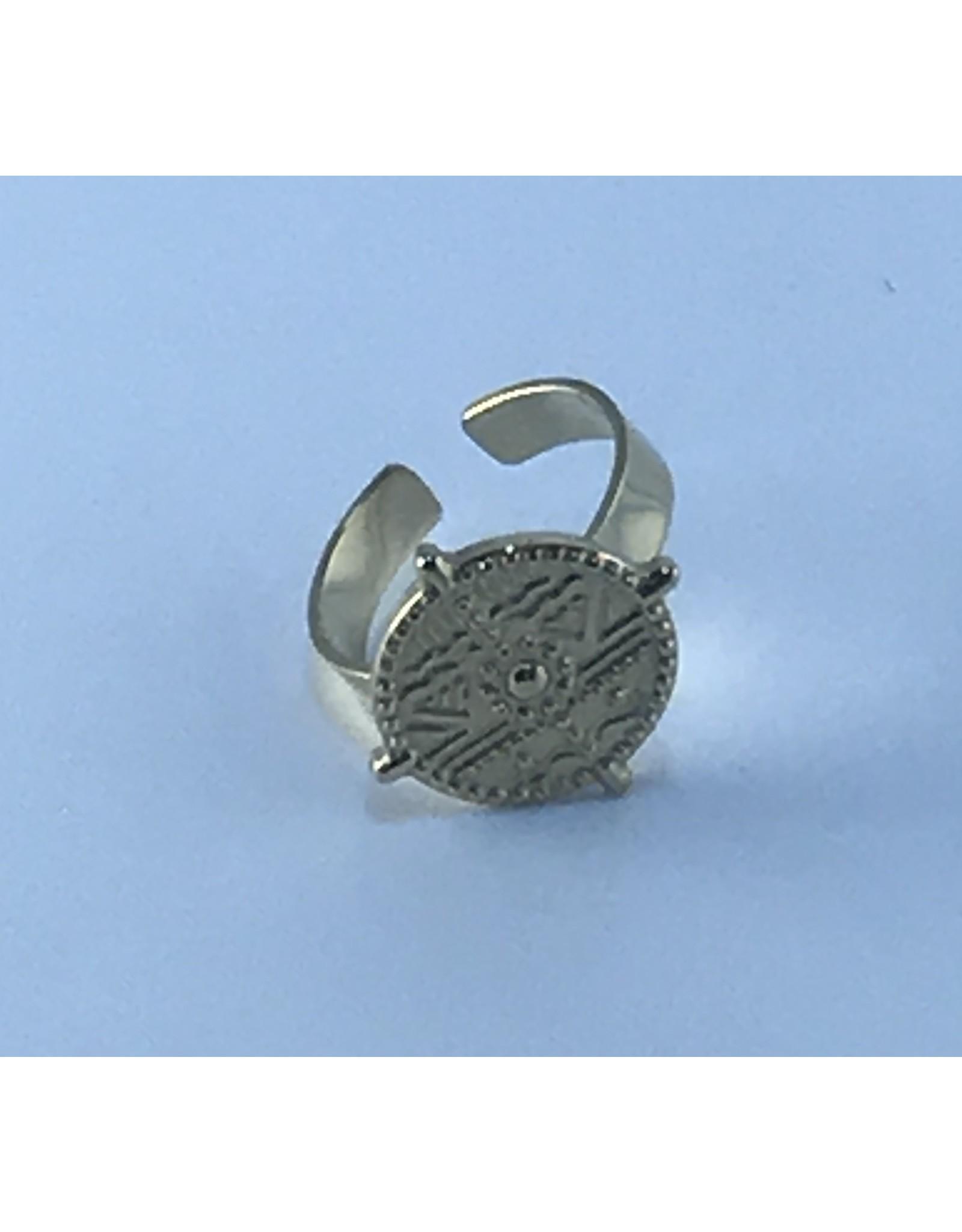 Axxes-Soir Ring - 1 maat - verstelbaar-goudkleurig - stempel