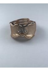 Axxes-Soir Ring - 1 maat - verstelbaar- rosékleurig mat afgewerkt met steentjes
