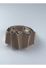 Axxes-Soir Ring - 1 maat - verstelbaar- rosékleurig met gekruld vlak