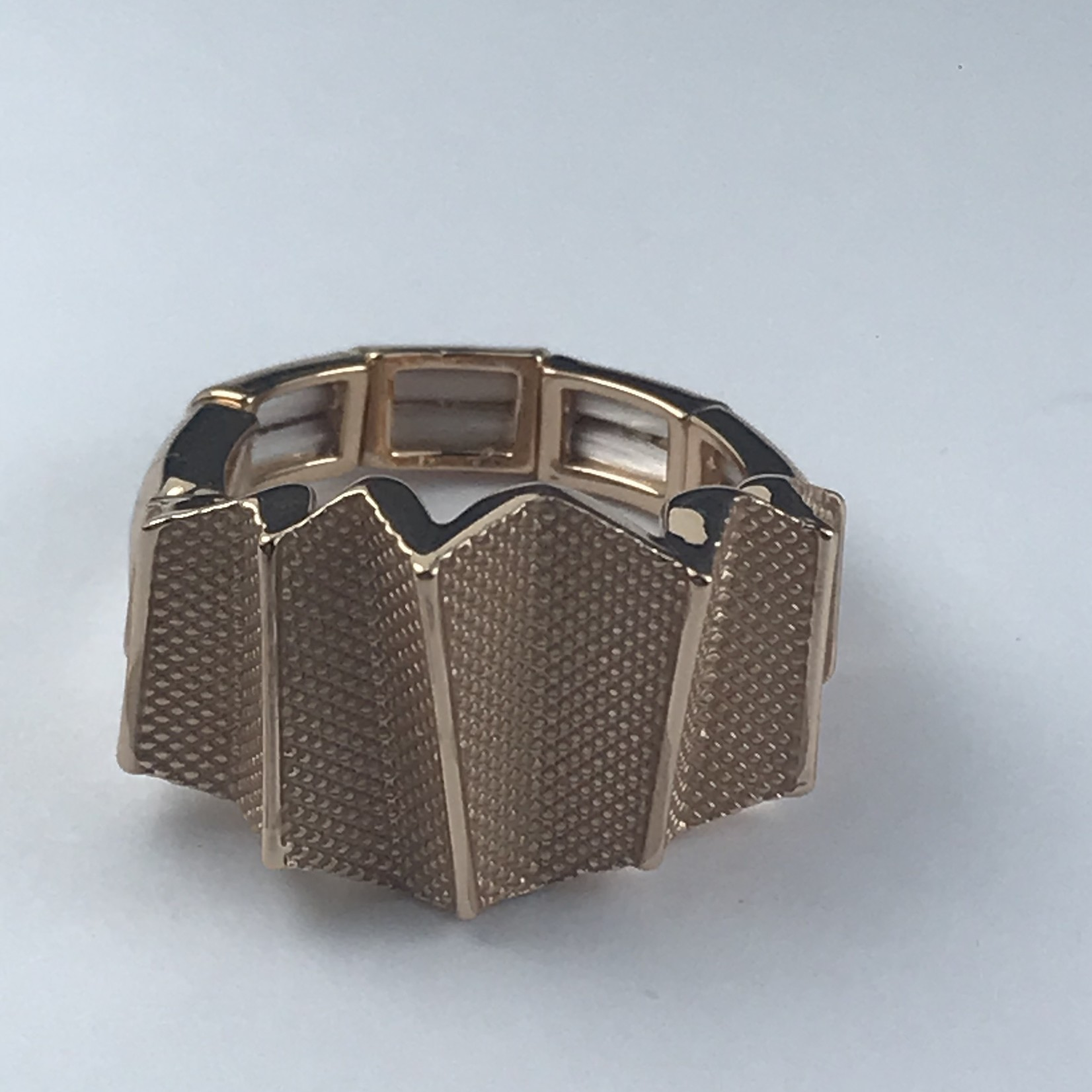 Axxes-Soir Ring elastisch rosékleurig