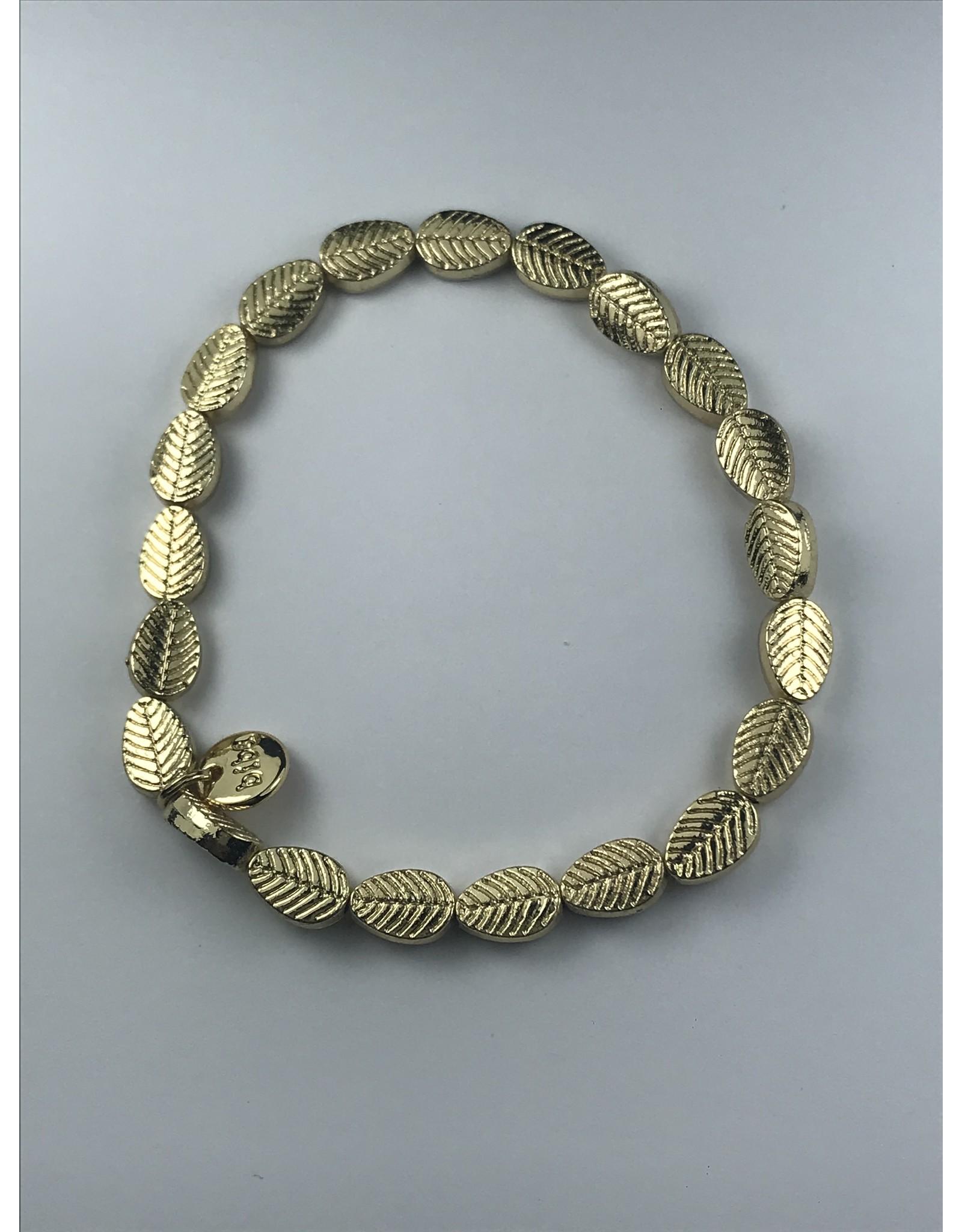 Biba armband goudkleurige blaadjes