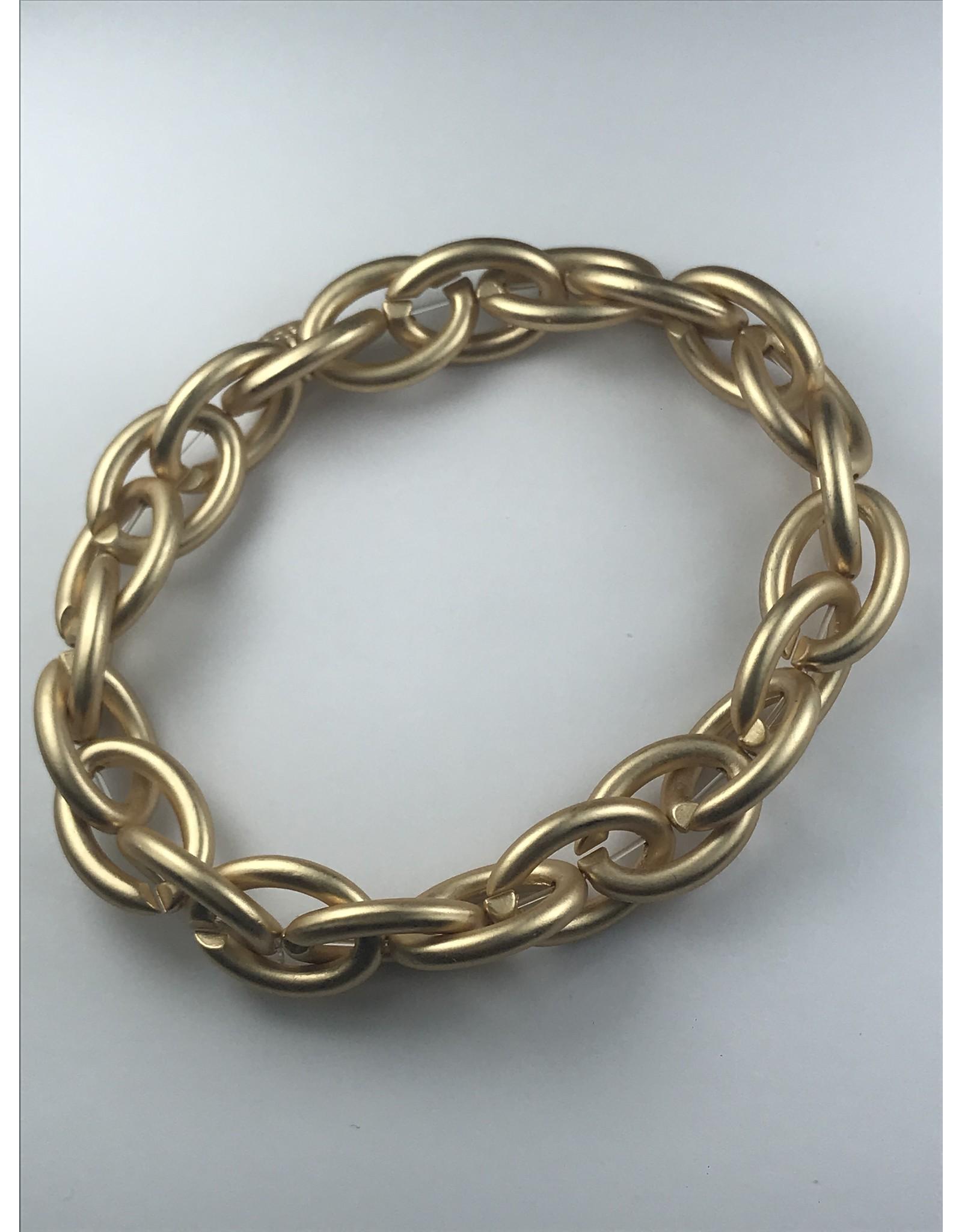 Biba armband  mat goudkleurige grote schakels