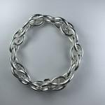 Biba armband zilverkleurige  grote schakels