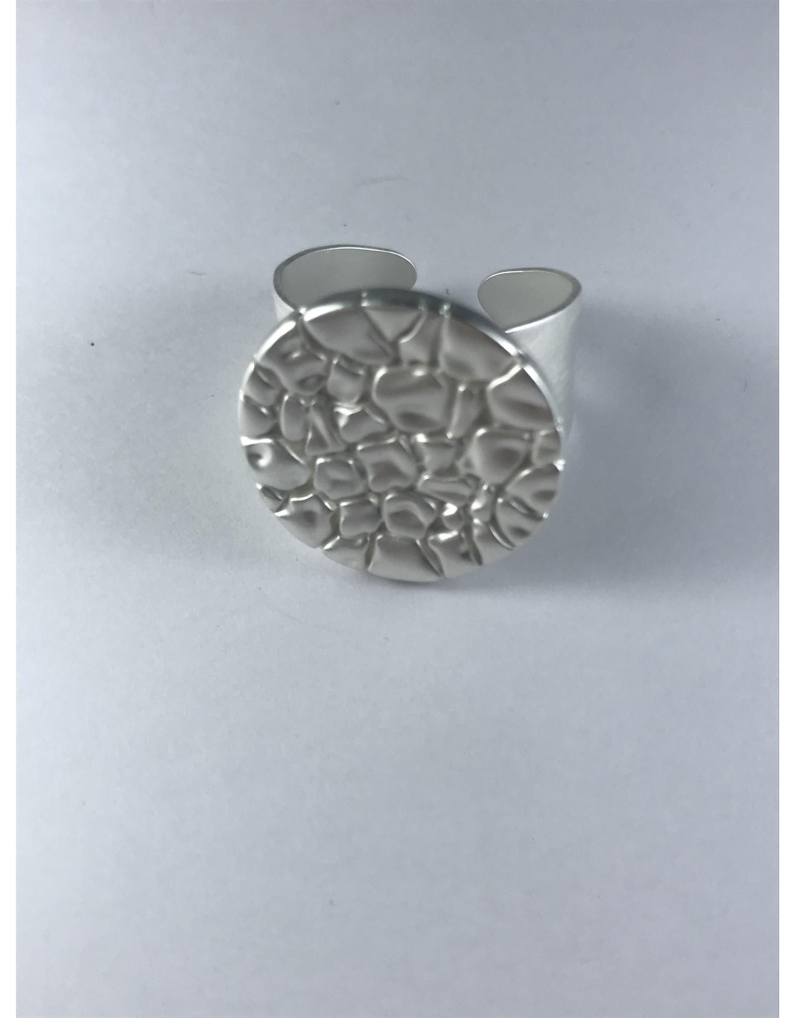 Axxes-Soir Ring - 1 maat - verstelbaar-zilverkleurig - stempel