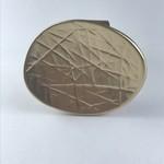 Axxes-Soir Ring verstelbaar goudkleurig met stempel