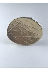 Axxes-Soir Ring - 1 maat - goudkleurig - stempel - groot