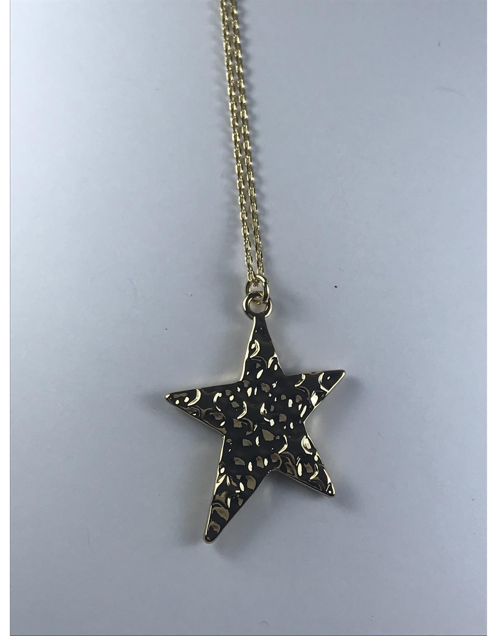 Axxes-Soir korte  goudkleurige ketting met ster
