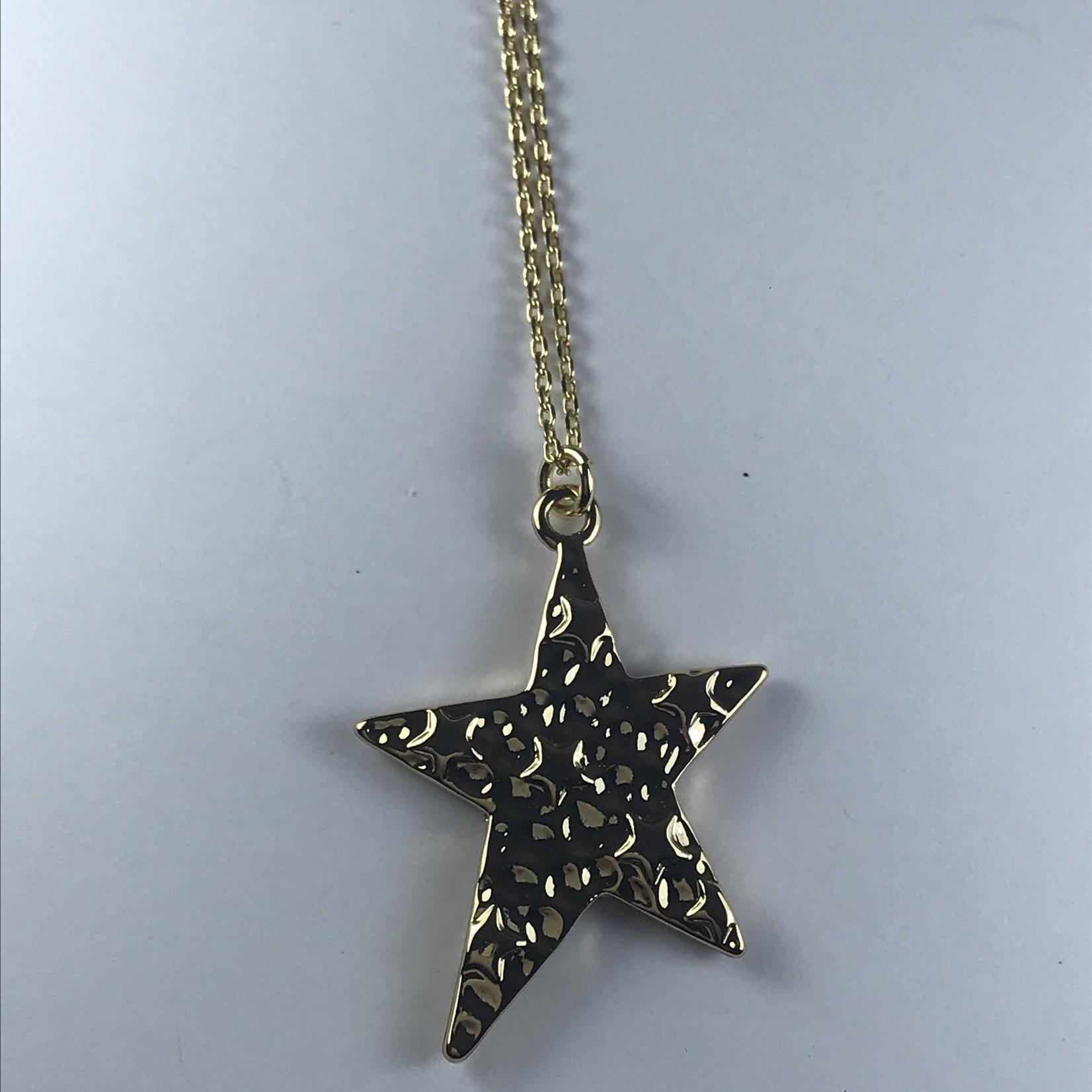Biba Kettinjg kort goudkleurig met  hanger ster