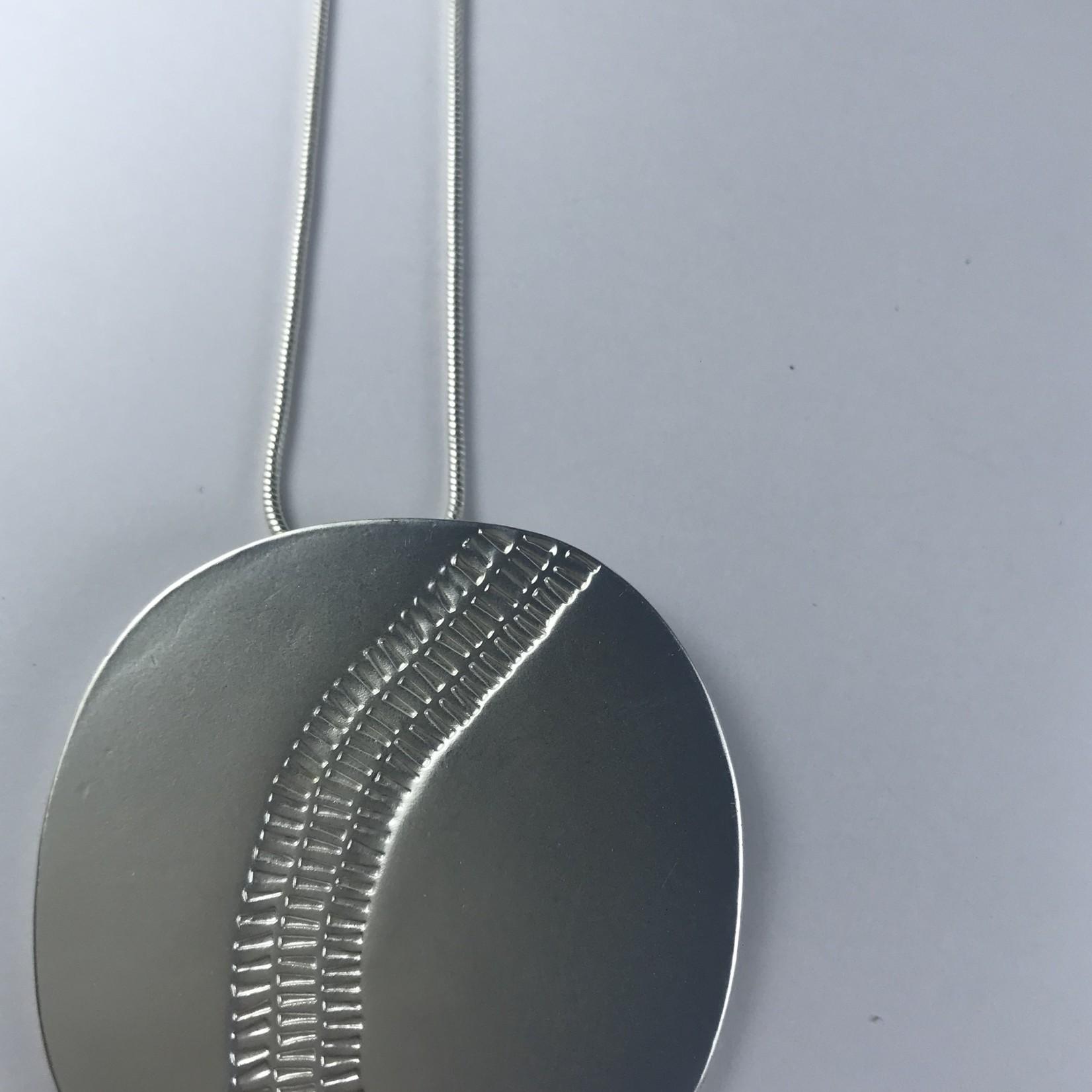 Axxes-Soir Ketting lang zilverkleurig hanger rond