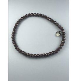 Biba armband - bronskleurige bollen - fijn