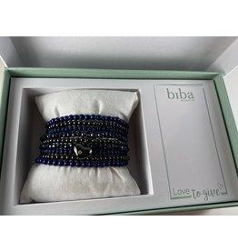 Biba Gift box donkerblauw - 9 armbandjes