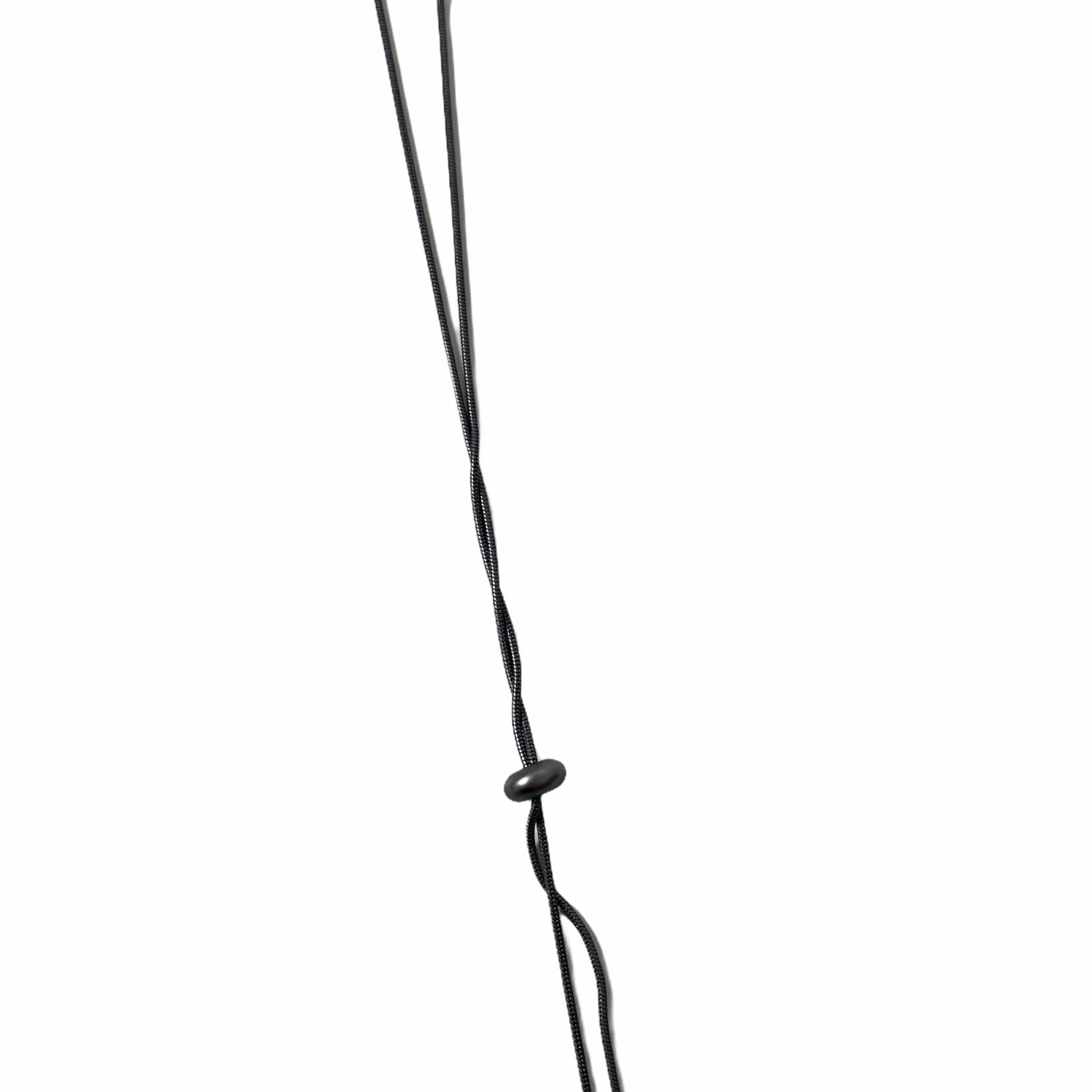 Biba Ketting lang in gun metal met ruitvormige hanger