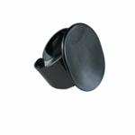Axxes-Soir Ring  verstelbaar in gun metal, ovaal