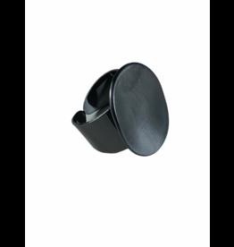 Axxes-Soir Ring - 1 maat - verstelbaar- gun metal - ovaal
