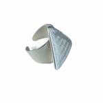 Axxes-Soir Ring - 1 maat - verstelbaar- zilver - driehoek