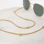 Sunny Cords Brillenketting ★ Zonnebrillenketting goud