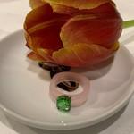 summerinrainbow Ring roze met steen