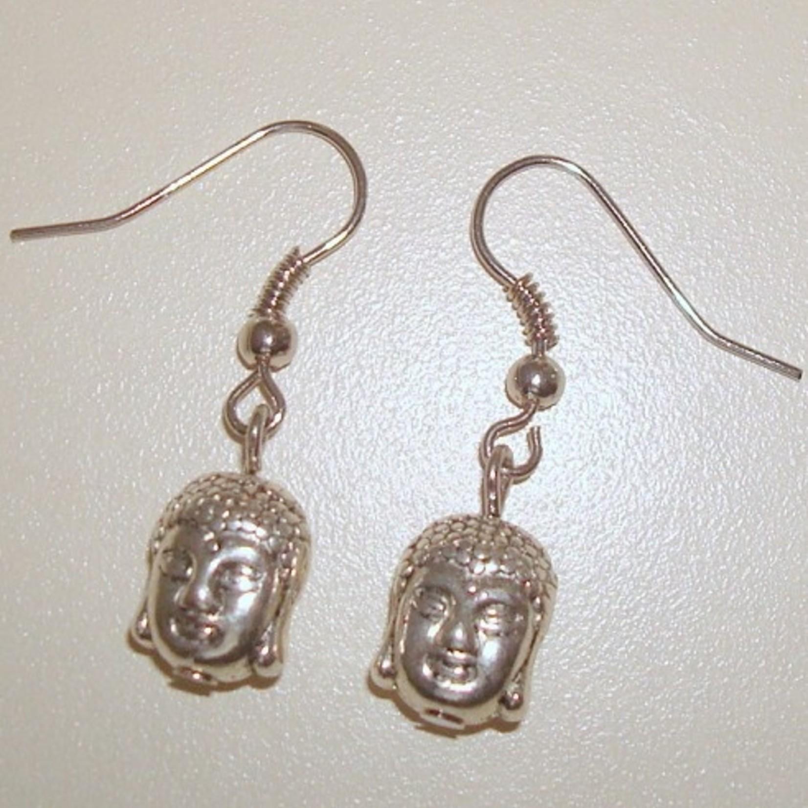 Adorabeads Verzilverde oorbellen Buddha
