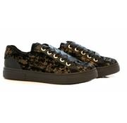 Hassia Sneaker Gold Black Velvet