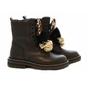 HIP Veterboot Black Flower Panter