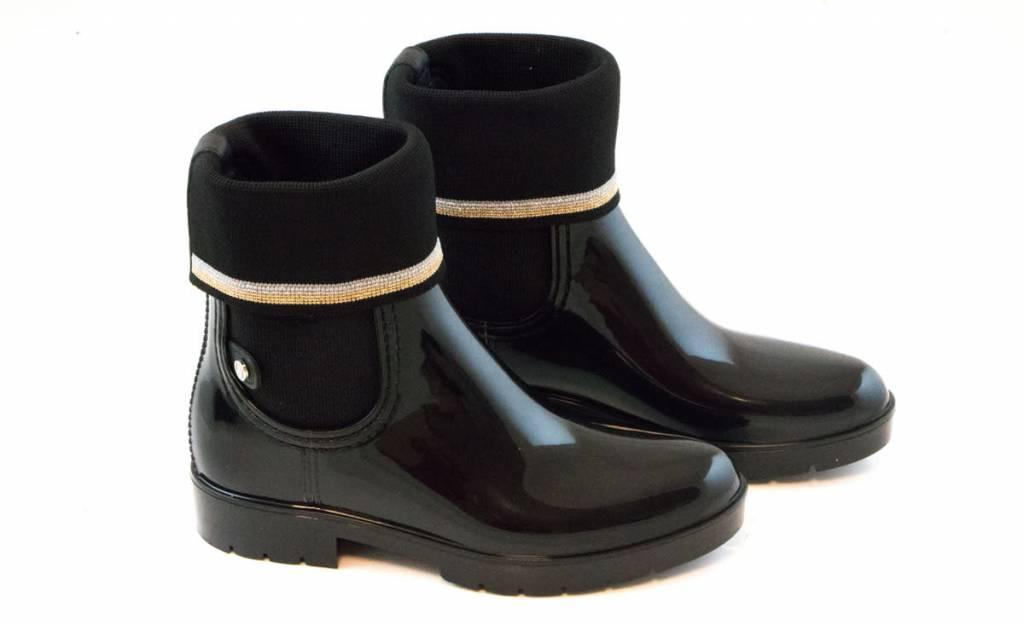 df7cfa4f62b Tommy Hilfiger Knitted Sock Rain Boot Black - Steenbergen Schoenen ...