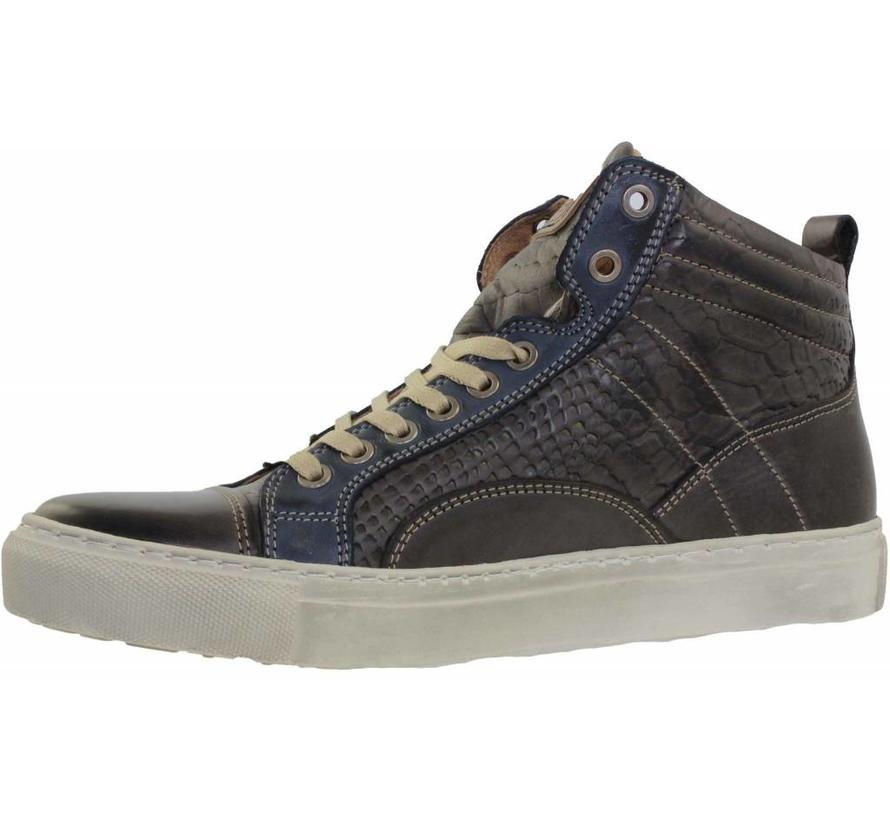 Hoge Sneakers Castagno Blue