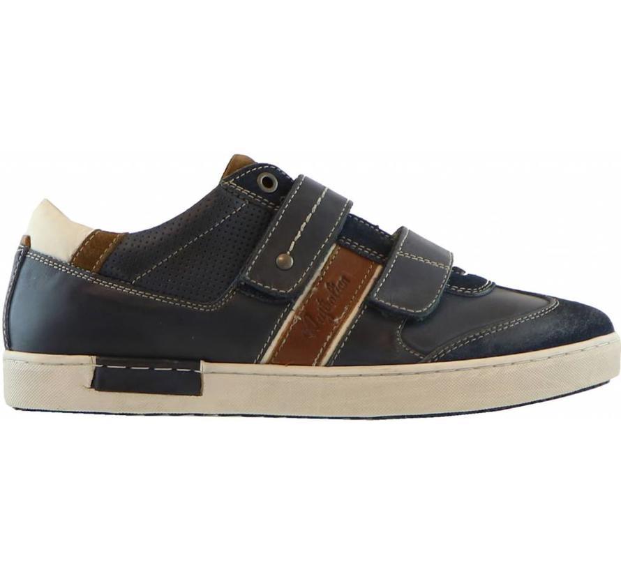 Sneaker Klittenband Tan Blue
