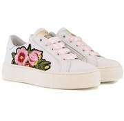 Develab Sneaker White Nappa Flower