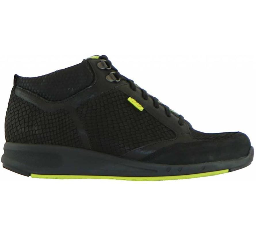 Hoge Sneaker Go Zwart Nubuck Slang