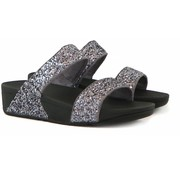 FitFlop Glitterball Slide Pewter