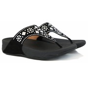 FitFlop Lulu Aztek Stud Toe Thong Sandals Black
