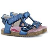 Shoesme Sandaal Marine Metallic Bloemen