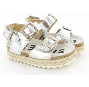 Shoesme Sandaal Silver Met Touwzool